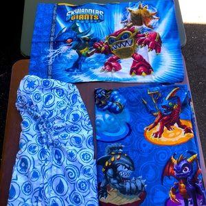 Skylanders Giants Twin Bed Bedding Sheet Set 3 PC